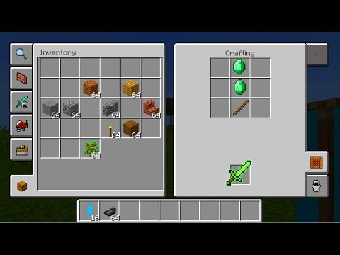 NEW CRAFTING TABLE in Minecraft Pocket Edition 1.2 (New UI)