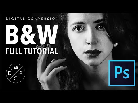 Digital Black and White conversion in Photoshop CC - full tutorial