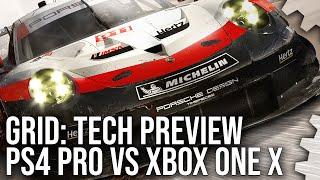 [4K] GRID Tech Preview: PS4 Pro vs Xbox One X Graphics Comparison