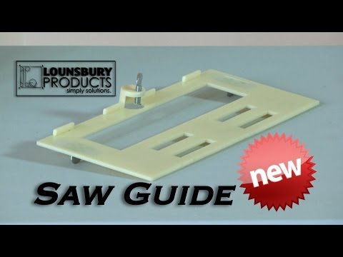 All deck boards too close together fix it with the Saw Guide By Lounsbury Products