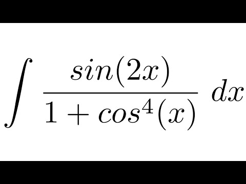 Integral of sin(2x)/(1+cos^4(x)) (substitution)