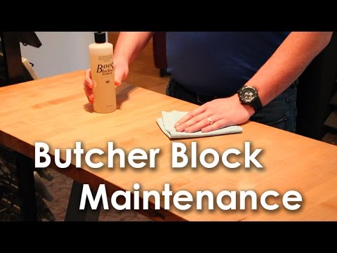 How to clean and maintain your butcher block countertop - Kitchen Fashions