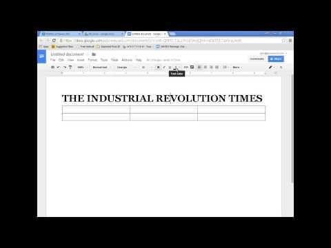 GoogleDocs Newspaper Formatting