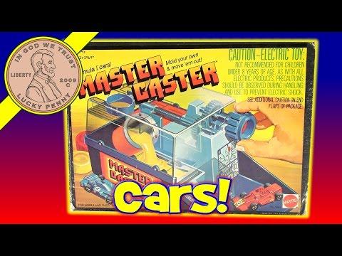 Mattel 1979 Master Caster Toy Formula 1 Mold Your Own Car Kids Maker Set