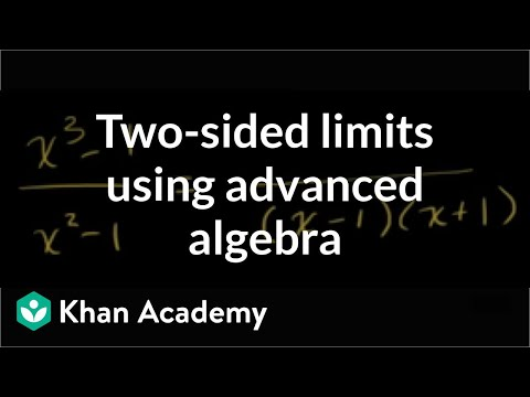 Limit by factoring cubic expression | Limits | Differential Calculus | Khan Academy
