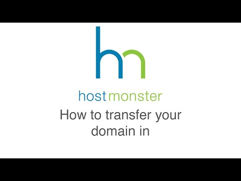 How to transfer a domain in to Hostmonster