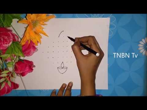 creative kolam designs with dots | diwali rangoli designs | muggulu designs with dots for diwali