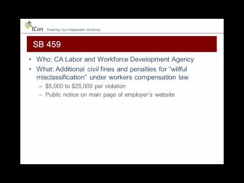 Managing the 2012 California Requirements for Independent Contractors