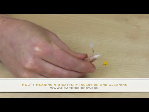 HD211 Hearing Aid Battery Insertion and Cleaning