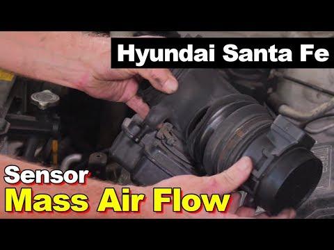Mass Airflow Meter Sensor on a Hyundai Santa Fe 2001-2006