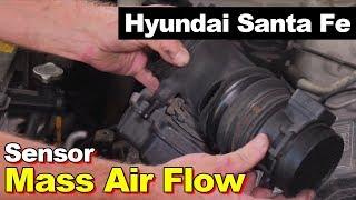 MAF Sensor Cleaning (2005 Hyundai Santa Fe) - PakVim net HD