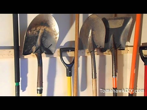 Organize Garage - Hang Tools for Cheap
