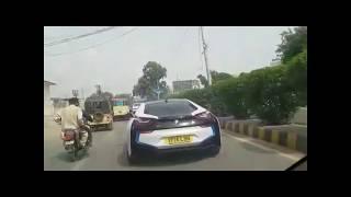 BMW i8 sports car 2017 First time in karachi ( pakistan )