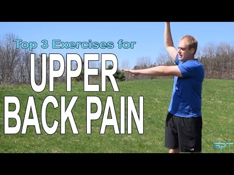 How to relieve upper back pain with exercises