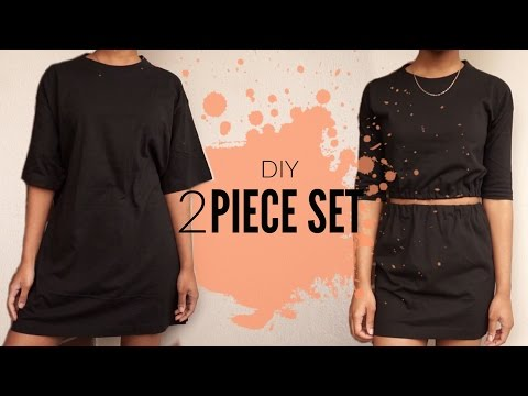 DIY Oversized T-Shirt to Two Piece Set | JUST J.