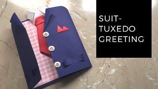 DIY Suit-Tuxedo Greeting Card Tutorial | How To Make Greetings | How To Craft - Anushree