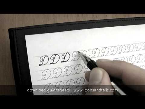 Learn cursive handwriting - Capital D
