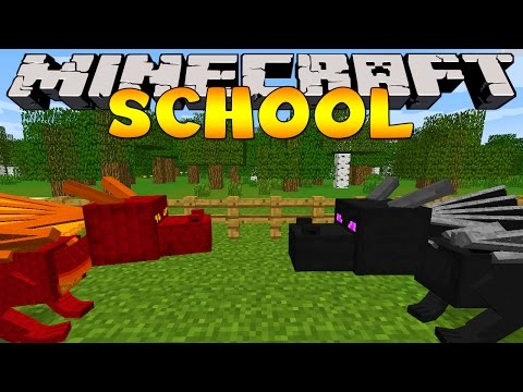 Minecraft School : DRAGONS AT THE SCHOOL!