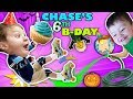 CHASES 6th BIRTHDAY Learning 2 ROLLER SKATE On 1st Day Of FALL Ouch FUNnel Vision