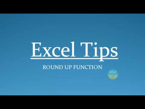 How To Use Round Up Function In Excel