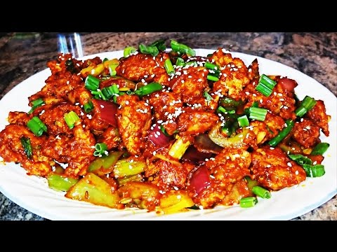 Chilli Chicken Dry Recipe - How To Make Chilli Chiken By Home Kitchen Video