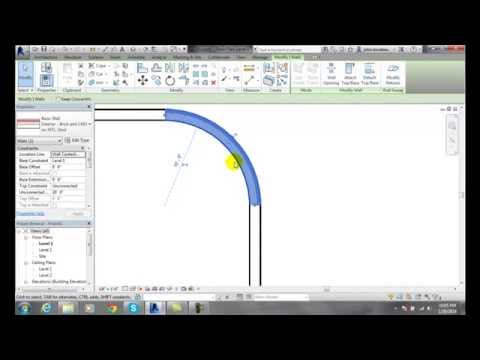 Revit 03-13 Sketching Center Ends Arc Wall Profiles