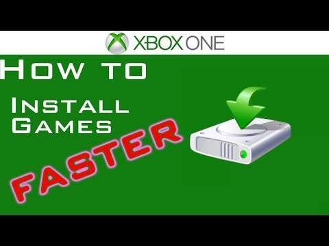 Xbox One - How To Install Games Faster!!