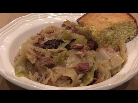 Cabbage with Smoked Ham Hocks