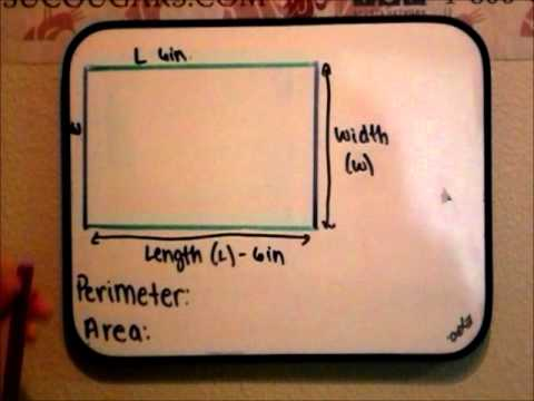 Area and Perimeter of a Rectangle Math Tutorial Video.wmv