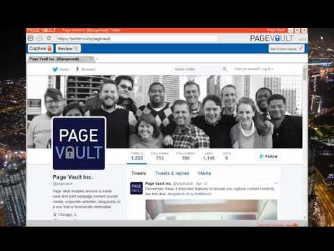 How to Save and Print Twitter Using Page Vault