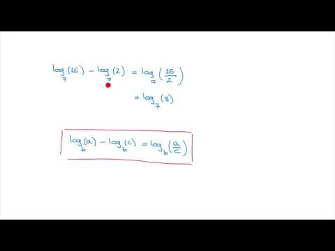 Logarithms - Subtraction Rule for Logarithms - Simplifying Logarithms - Tutorial 7