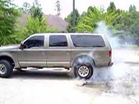 Ford Excursion Burnout Diesel