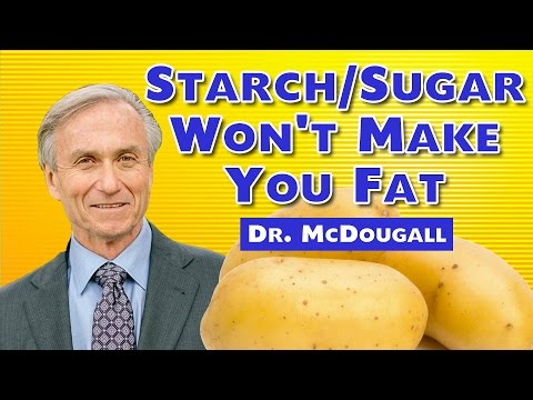 Starch/Sugar Don't Make You Fat - Fat Does! Dr. McDougall