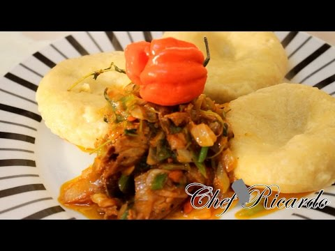 Old School Cooking Tin Mackerel With Cornmeal Dumpling Back In The Days | Recipes By Chef Ricardo