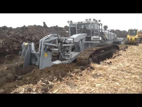 Tile Plow Installing Drainage Tile
