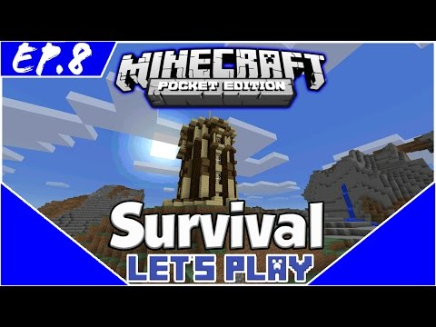 Survival Let's Play EP.8- ENCHANTING TOWER! -Minecraft PE(Pocket Edition)