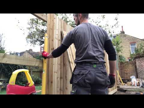 Featheredge fence installation