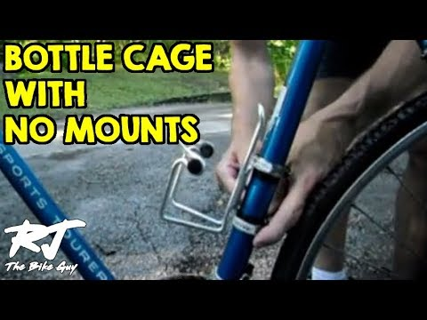 How To Mount A Bottle Cage On Bike Without Mounting Screws/Braze-Ons