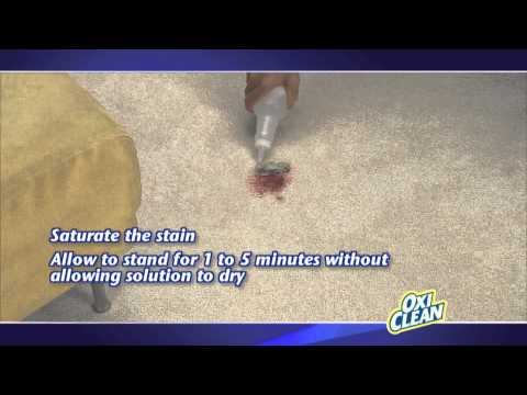 Carpet Stain Removal with OxiClean