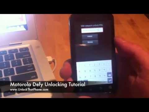 How to Unlock Motorola Defy with Code + Full Unlocking Tutorial!! t-mobile rogers o2 orange bell