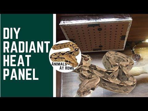 DIY Radiant Heat Panel for Reptiles