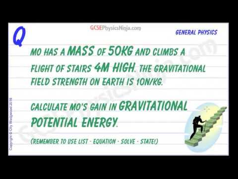 Gravitational Potential Energy Calculations - Example Physics Question