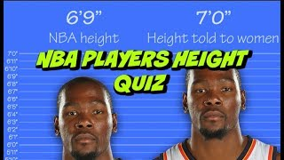NBA PLAYERS HEIGHT QUIZ ●{GUESS These NBA PLAYER