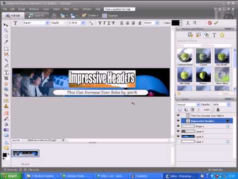 Photoshop Tutorial - Design a Header Graphic in 5 Minutes