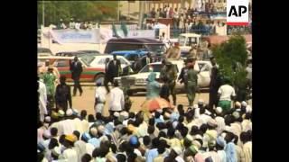 Nigeria - Gaddafi arrives for Moslem New Year