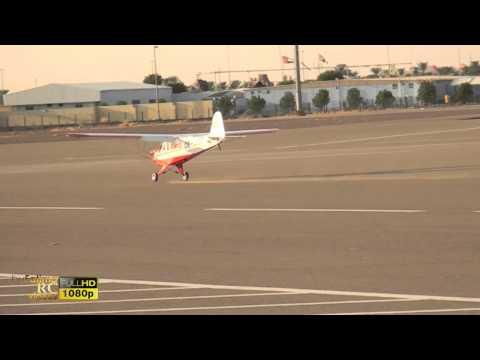 Obaid Al Nuaimi Flying Rc plane Piper Super Cub at Al Ain Sport club