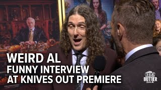 Weird Al Funny Interview at Knives Out Premiere | Extra Butter Interview