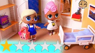 Worst Rated Best Hotel ! Weird Vacation One Star Review - Lol Surprise Dolls Play Video