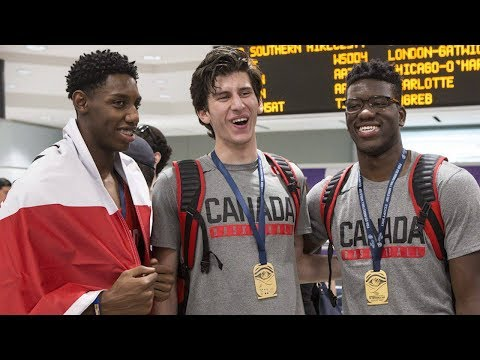 Canada's historic gold-medal winning basketball team welcomed home