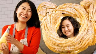Rie Makes A Cat-Shaped Cream Puff For Niki